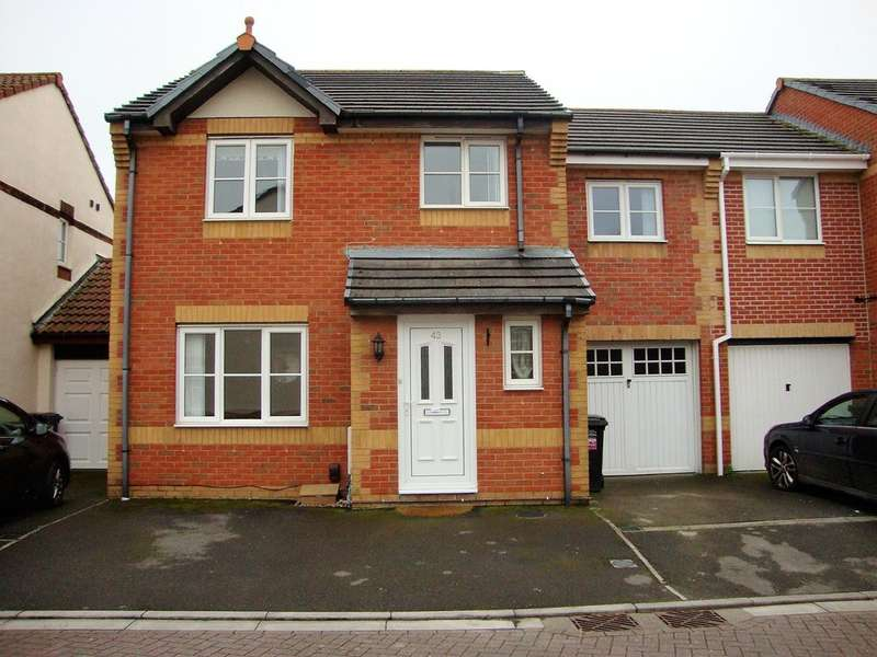 4 Bedrooms Semi Detached House for sale in Camberley Walk, Locking Castle, Weston Super Mare