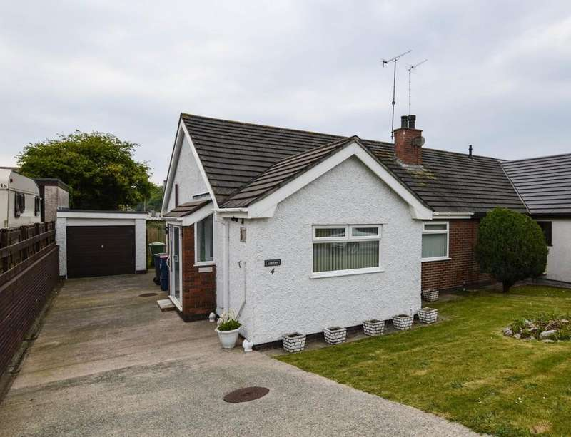 2 Bedrooms Semi Detached Bungalow for sale in Tyn Coed Uchaf, Llangefni, North Wales