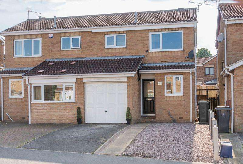 3 Bedrooms Semi Detached House for sale in Farnaby Drive, High Green, S35 4NY - Very Well Presented Throughout