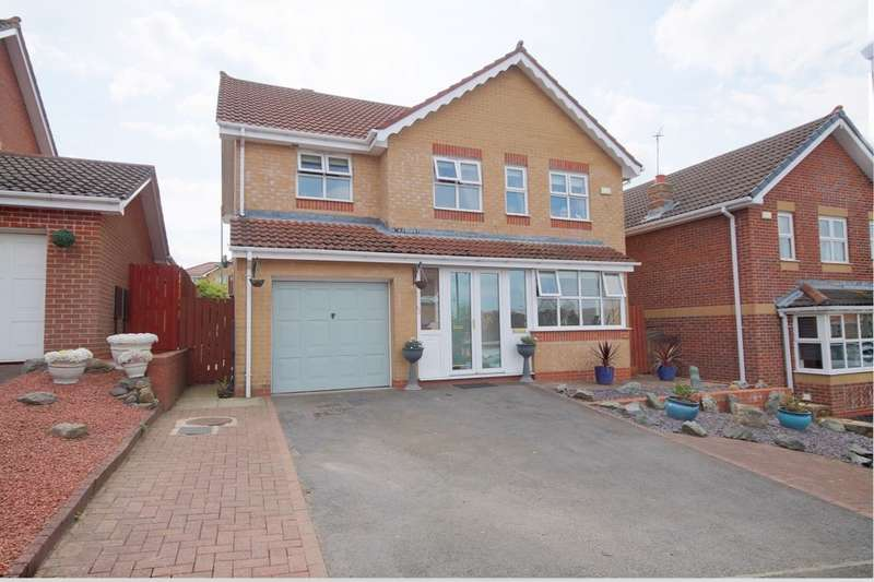 4 Bedrooms Detached House for sale in Troon Close, Consett, DH8