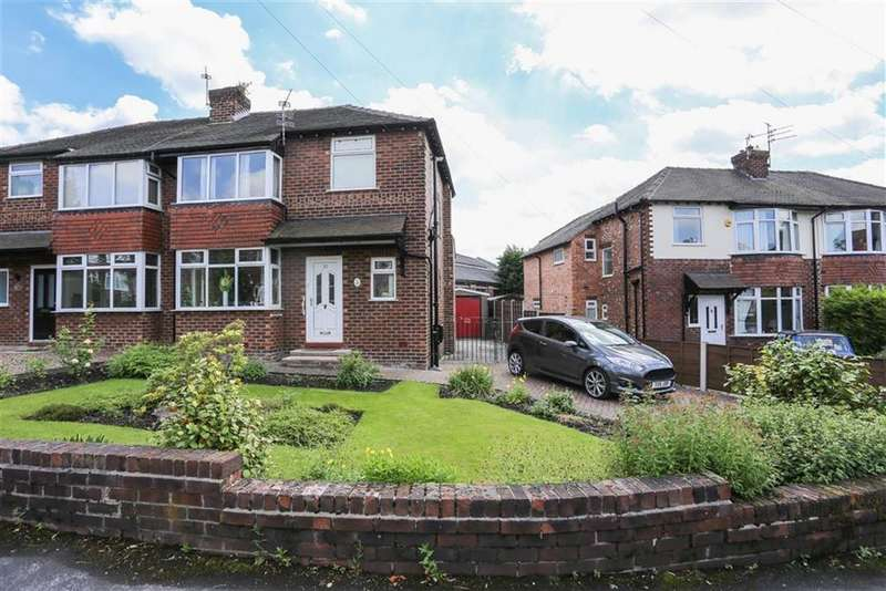 3 Bedrooms Semi Detached House for sale in Hollins Green Road, Marple, Cheshire