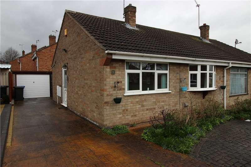 2 Bedrooms Semi Detached Bungalow for sale in Dee Close, Sinfin, Derby, Derbyshire, DE24