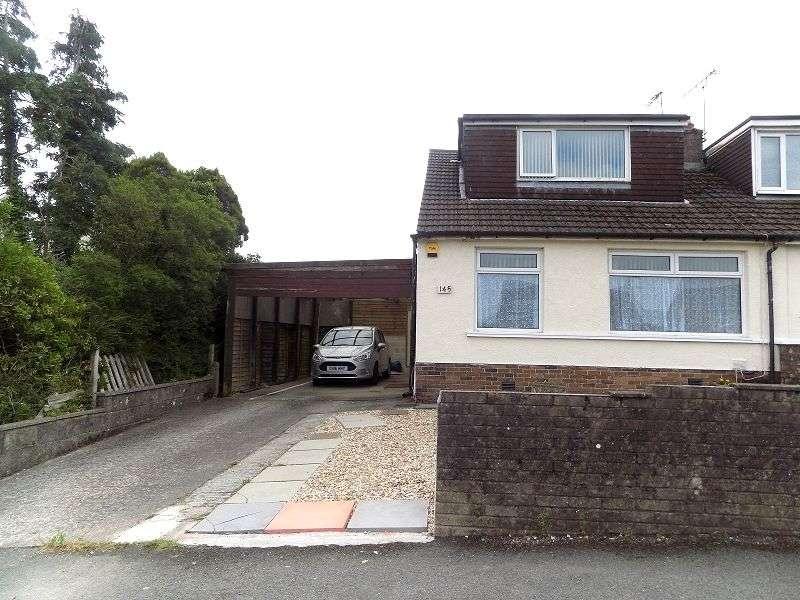 3 Bedrooms Semi Detached Bungalow for sale in Merlin Crescent, Cefn Glas, Bridgend. CF31 4QL