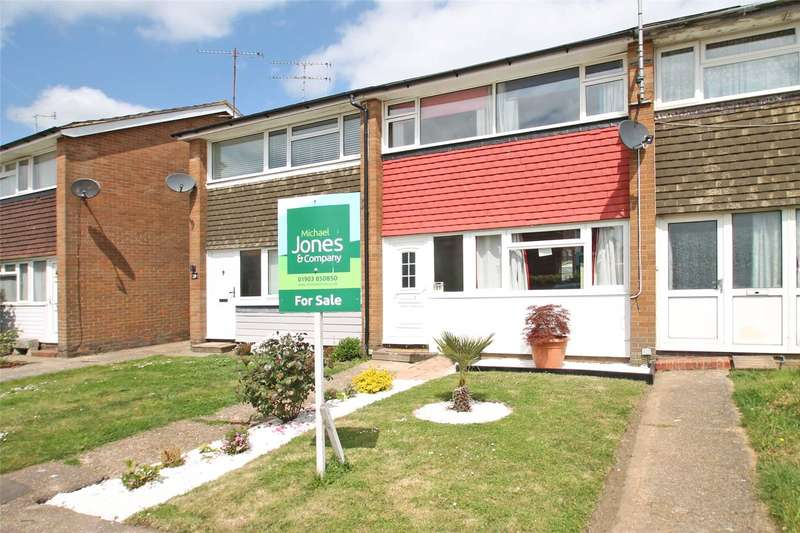 3 Bedrooms Terraced House for sale in Wolstenbury Road, Rustington, West Sussex, BN16