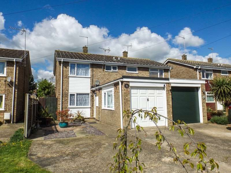 3 Bedrooms Semi Detached House for sale in Ermine Way, Huntingdon, Cambridgeshire, PE28