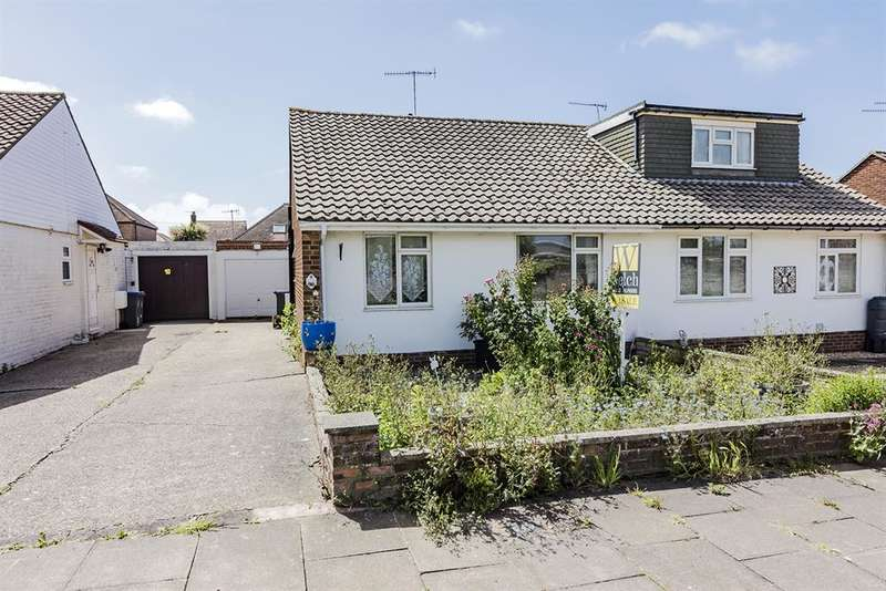 2 Bedrooms Semi Detached Bungalow for sale in Ham Close, Worthing, West Sussex, BN11 2QE