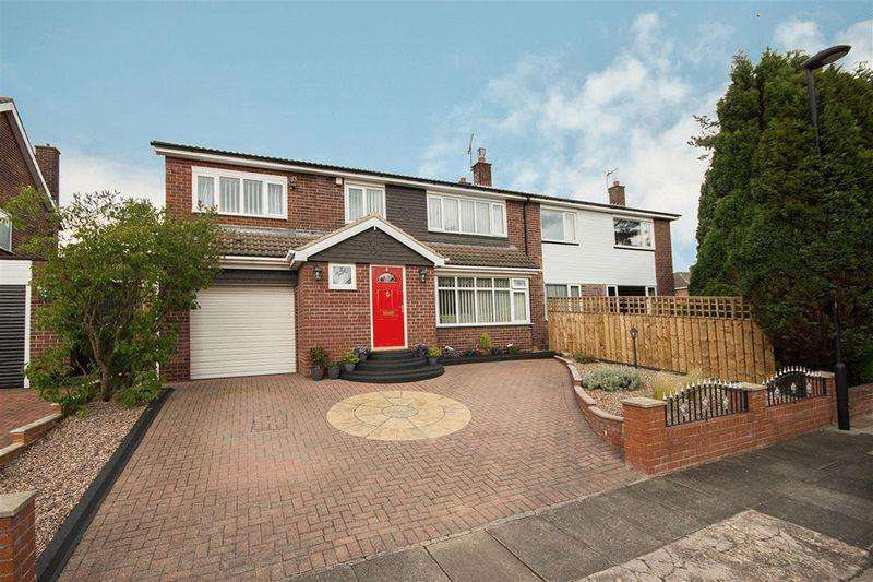 4 Bedrooms Semi Detached House for sale in Sheldon Grove, Gosforth
