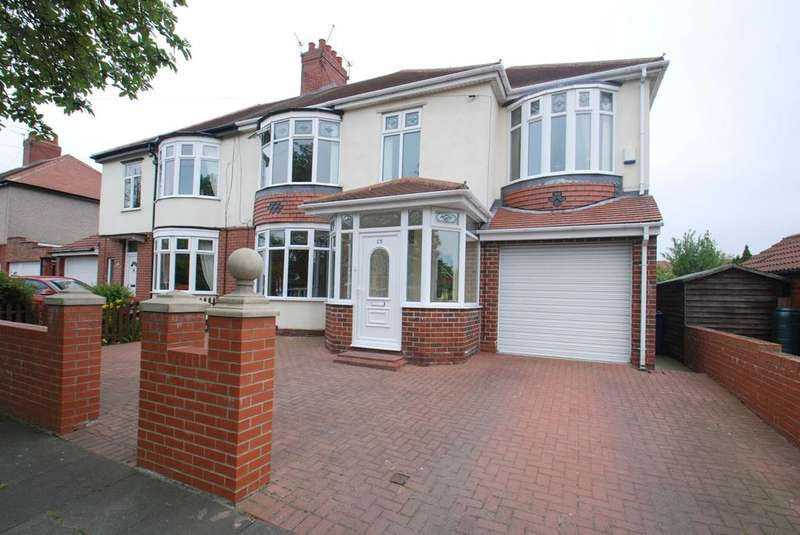 4 Bedrooms Semi Detached House for sale in King George Road, South Shields