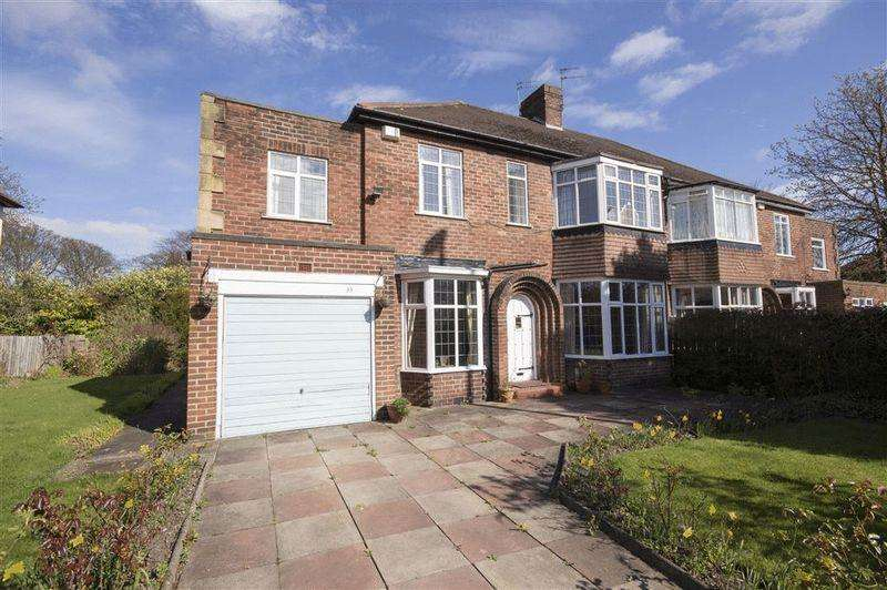 5 Bedrooms Semi Detached House for sale in Kenton Road, Gosforth