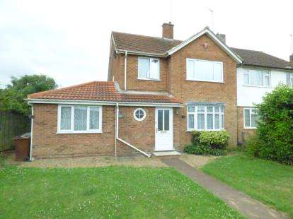 4 Bedrooms Semi Detached House for sale in Harlestone Road, Duston, Northampton, Northamptonshire