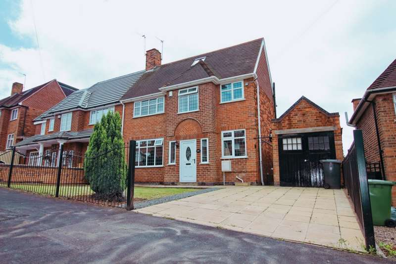 4 Bedrooms Semi Detached House for sale in Wicklow Drive, Leicester, LE5