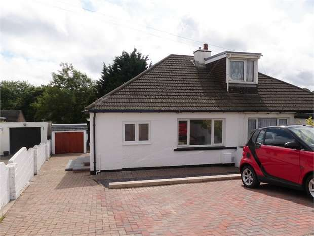 2 Bedrooms Semi Detached Bungalow for sale in Coleridge Close, Cefn Glas, Bridgend, Mid Glamorgan