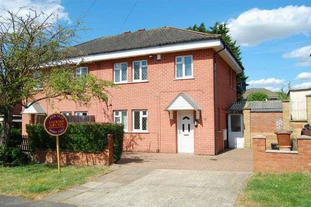 3 Bedrooms Semi Detached House for sale in Whiteland Road, The Headlands, Northampton NN3 2QG