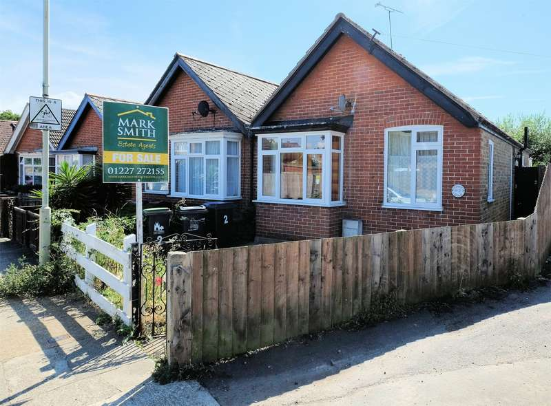 2 Bedrooms Semi Detached Bungalow for sale in Clare Road, Tankerton, WHITSTABLE, Kent