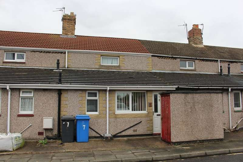 2 Bedrooms Terraced House for sale in School Row, North Broomhill, Morpeth, Northumberland, NE65 9TY