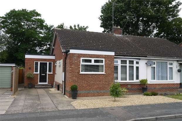 2 Bedrooms Semi Detached Bungalow for sale in Jerwood Way, Little Bowden, MARKET HARBOROUGH, Leicestershire