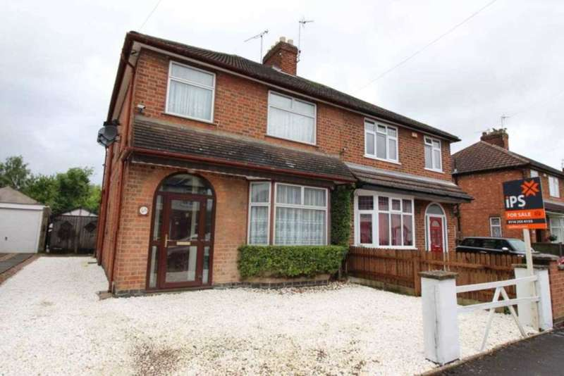3 Bedrooms Semi Detached House for sale in Park Drive, Leicester Forest East
