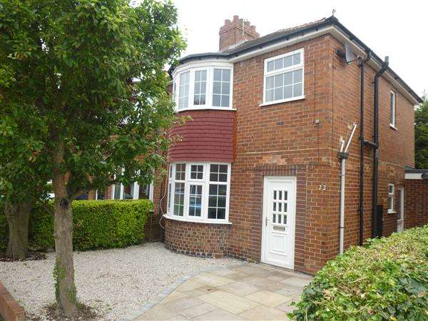 3 Bedrooms Semi Detached House for sale in Rydal Avenue, Burnholme, York