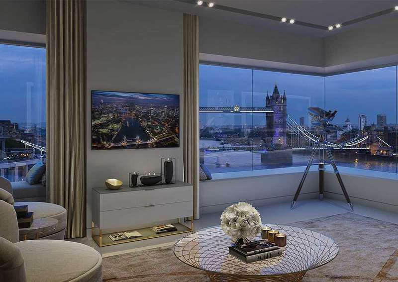 3 Bedrooms Apartment Flat for sale in Landmark Place, Tower Bridge, London