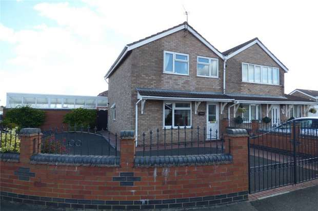 3 Bedrooms Semi Detached House for sale in Norfolk Crescent, Lindley Park, Nuneaton, Warwickshire