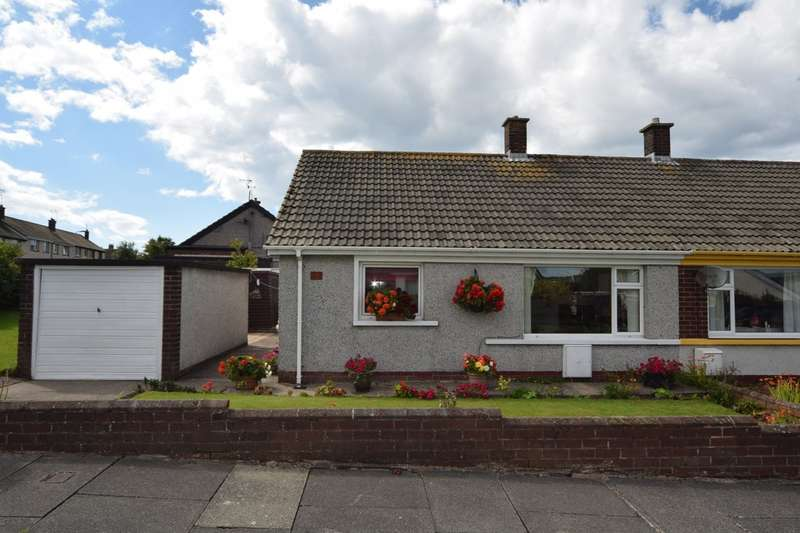 2 Bedrooms Semi Detached Bungalow for sale in Bankfield Gardens, Walney, Cumbria LA14 3SN