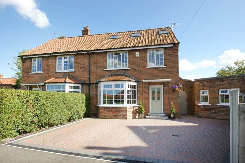 4 Bedrooms Semi Detached House for sale in The Crescent, Stamford Bridge, York, YO41