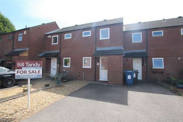 2 Bedrooms Terraced House for sale in Maxwell Close, Lichfield, Staffordshire