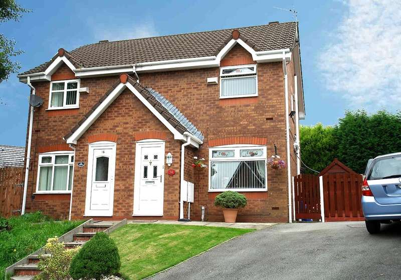 2 Bedrooms Semi Detached House for sale in 14 Downhill Close, Oldham