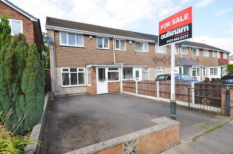 3 Bedrooms End Of Terrace House for sale in Druids Lane, Kings Heath, Birmingham