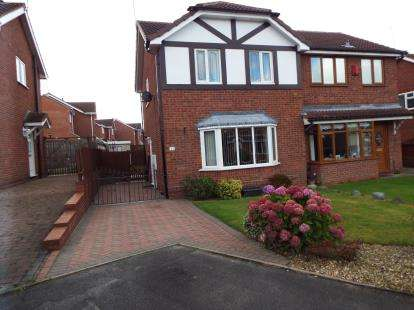 3 Bedrooms Semi Detached House for sale in Redwing Drive, Huntington, Cannock, Staffordshire
