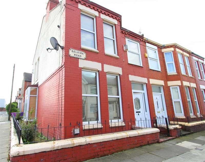 3 Bedrooms End Of Terrace House for sale in Selkirk Road, Old Swan, Liverpool