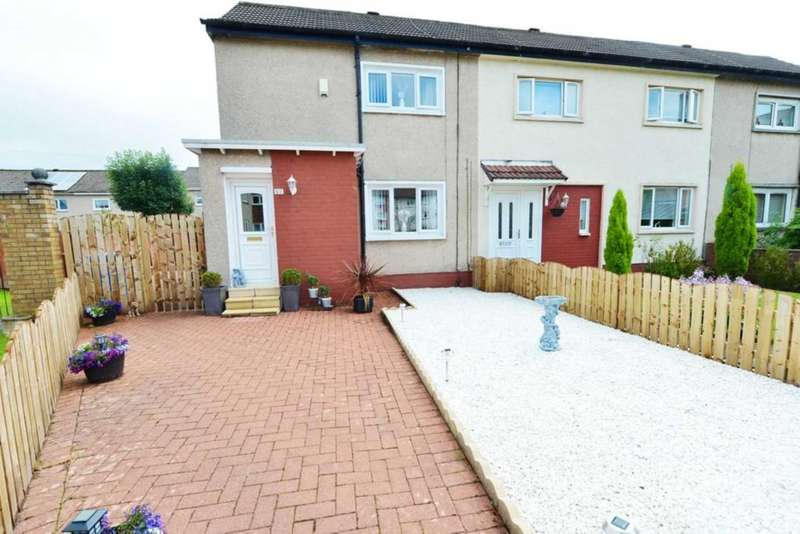 2 Bedrooms End Of Terrace House for sale in Roseberry Place, Burnbank