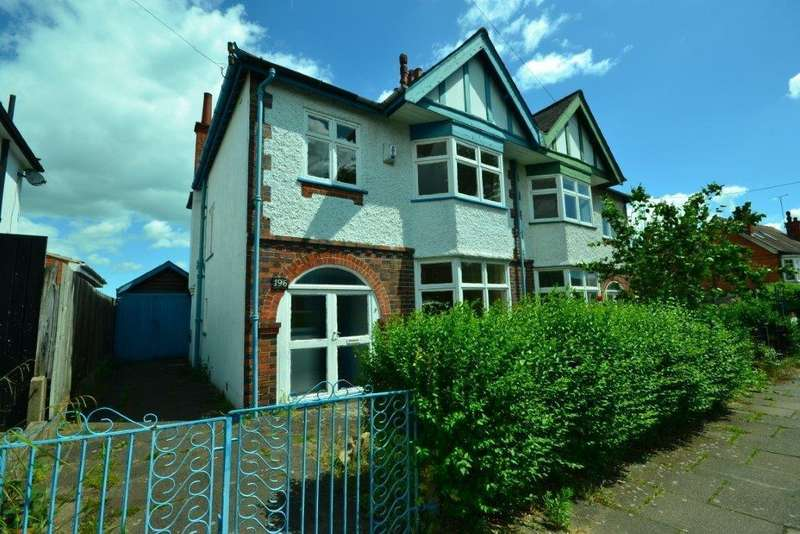 3 Bedrooms Semi Detached House for sale in Kimberley Road, Evington, Leicester