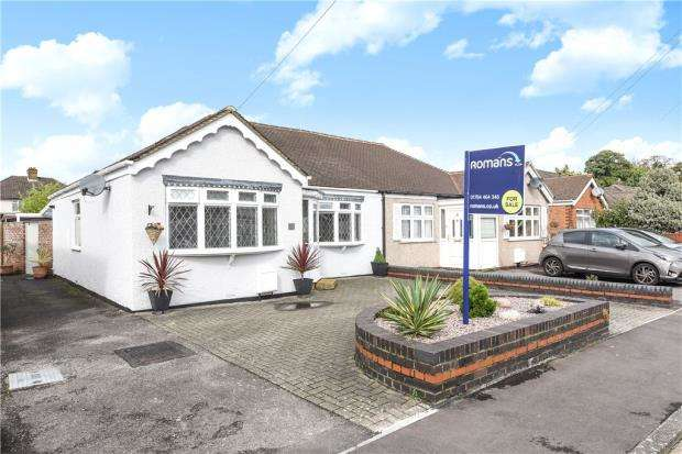 2 Bedrooms Semi Detached Bungalow for sale in Celia Crescent, Ashford, Surrey