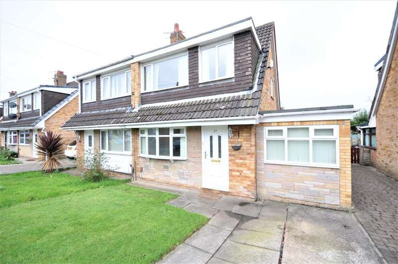 3 Bedrooms Semi Detached House for sale in Goodwood Avenue, Fulwood, Preston, Lancashire, PR2 9TZ