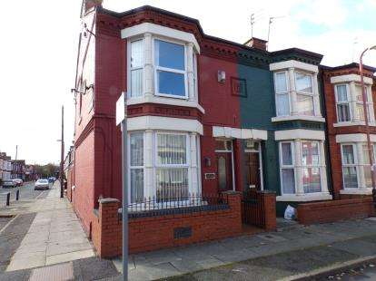 3 Bedrooms End Of Terrace House for sale in Markfield Road, Bootle, Merseyside, L20