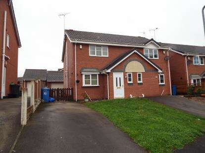 2 Bedrooms Semi Detached House for sale in Newquay Drive, Wrexham, LL13