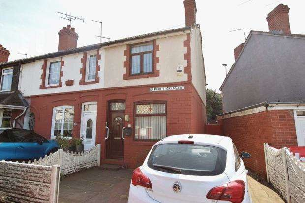 2 Bedrooms End Of Terrace House for sale in ST PAULS CRESCENT, WEST BROMWICH, WEST MIDLANDS, B70 0TR
