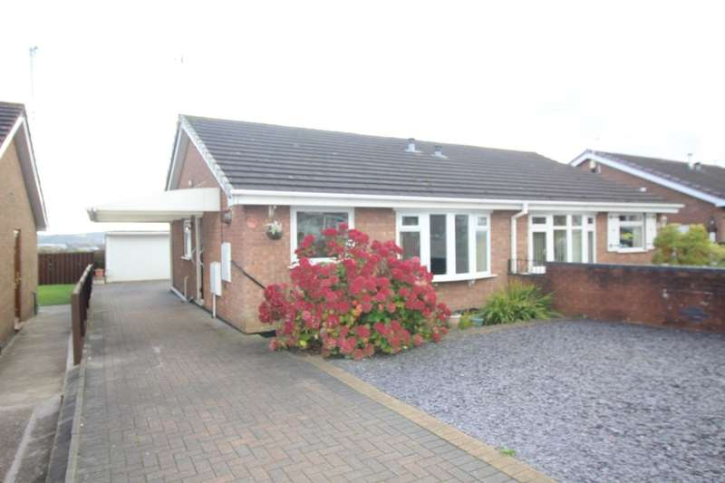 2 Bedrooms Semi Detached Bungalow for sale in Fenpark Road, Fenpark, Stoke-On-Trent, ST4