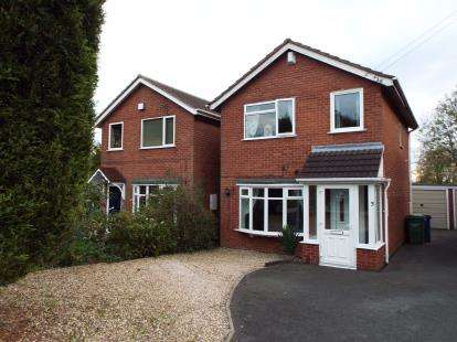 3 Bedrooms Detached House for sale in Wallace Close, Norton Canes, Cannock, Staffordshire