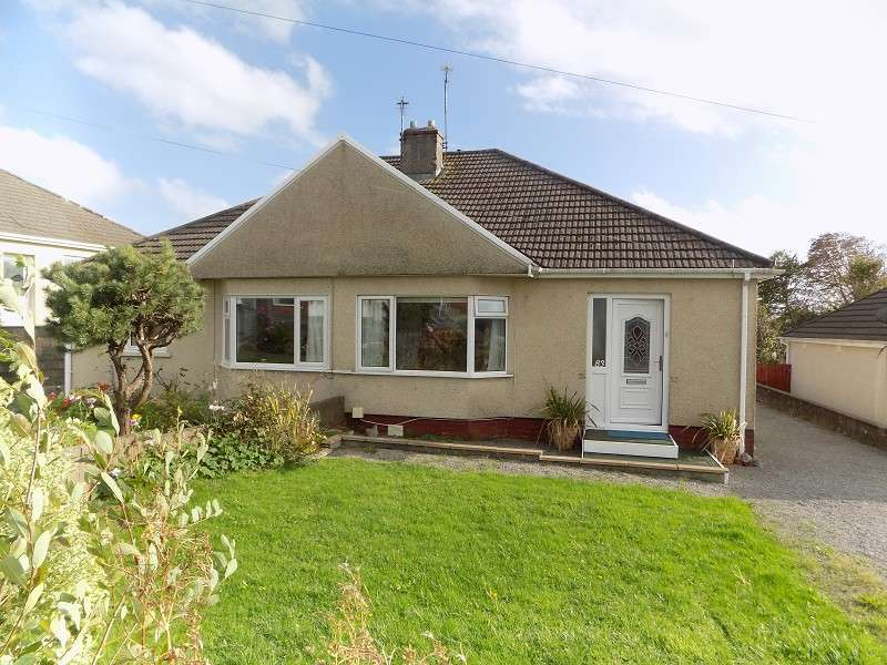 2 Bedrooms Semi Detached Bungalow for sale in Merlin Crescent, Cefn Glas, Bridgend. CF31 4QW