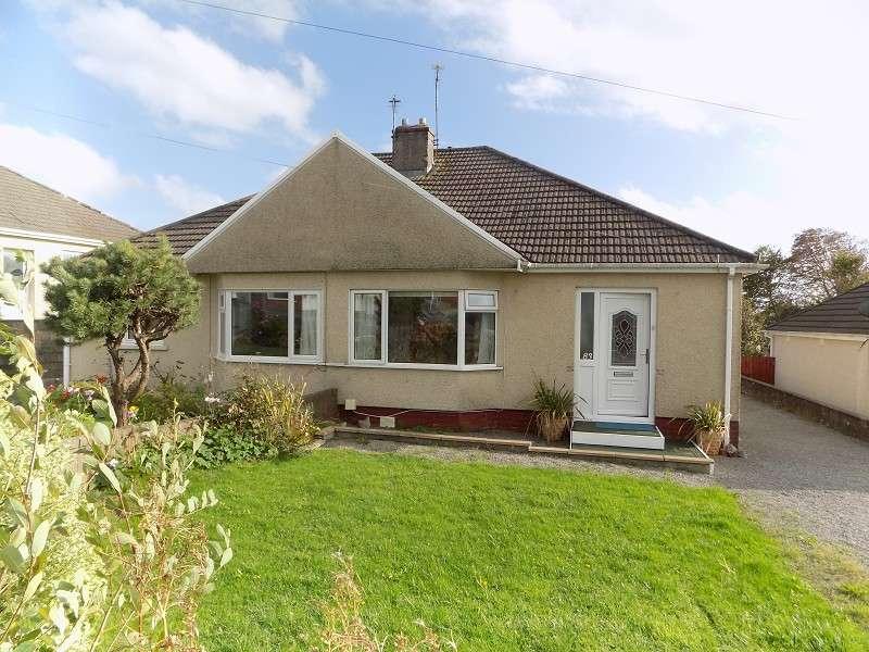 2 Bedrooms Semi Detached Bungalow for sale in Merlin Crescent, Cefn Glas, Bridgend. CF31 4QW