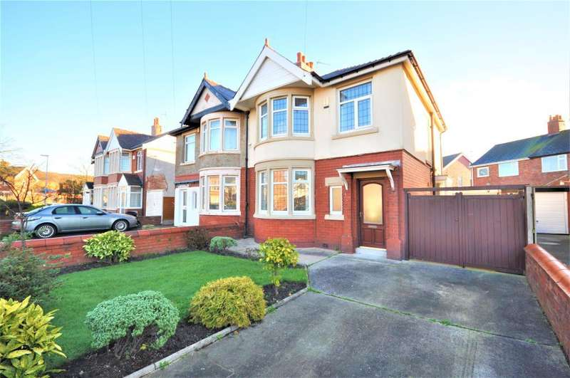 3 Bedrooms Semi Detached House for sale in Bispham Road, Layton, Blackpool, Lancashire, FY3 7HQ