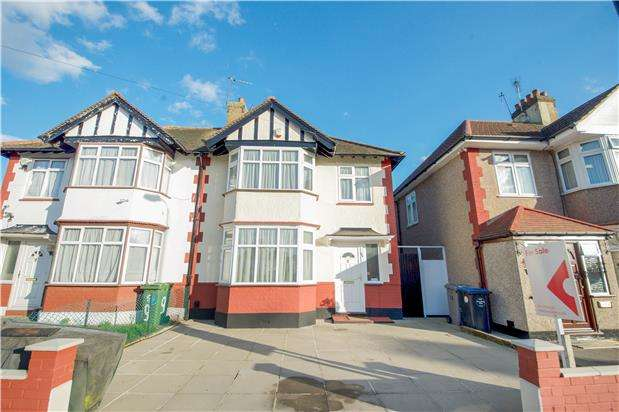 3 Bedrooms Semi Detached House for sale in Cranleigh Gardens, Kenton, Harrow, HA3 0UP