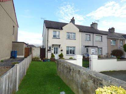 3 Bedrooms End Of Terrace House for sale in Bron Y Garth, Caernarfon, Gwynedd, LL55