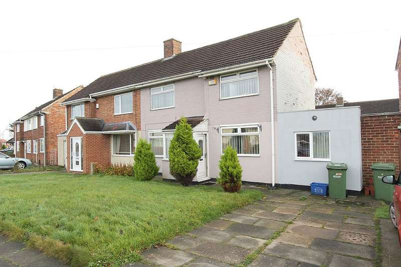 3 Bedrooms Semi Detached House for sale in Rosslare Road, Stockton-on-Tees, Durham, TS19 9LY
