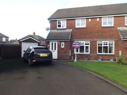 3 Bedrooms Semi Detached House for sale in Washbrook Close, St. Helens, Merseyside, WA10