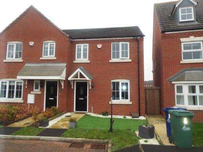 3 Bedrooms Semi Detached House for sale in Caversham Mews, Bridgetown, Cannock, Staffordshire