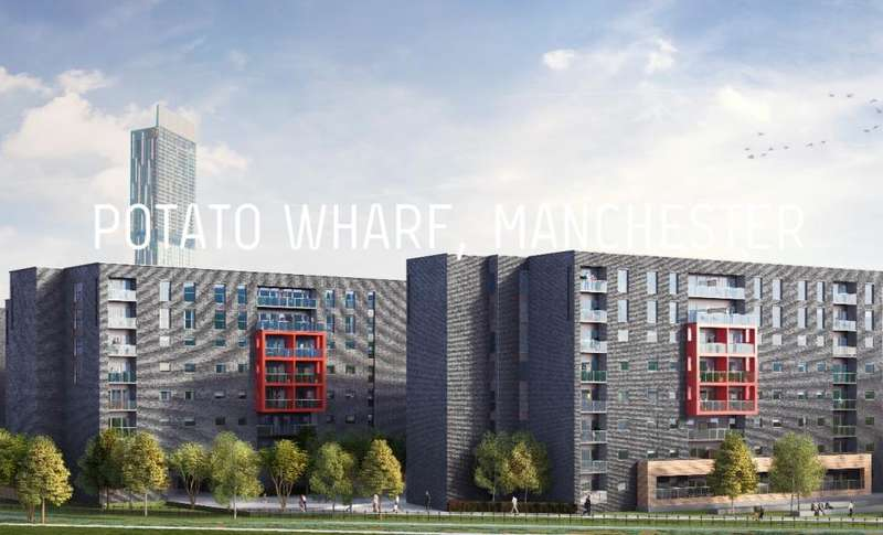 1 Bedroom Apartment Flat for sale in Potato Wharf, Wilson Block, M3