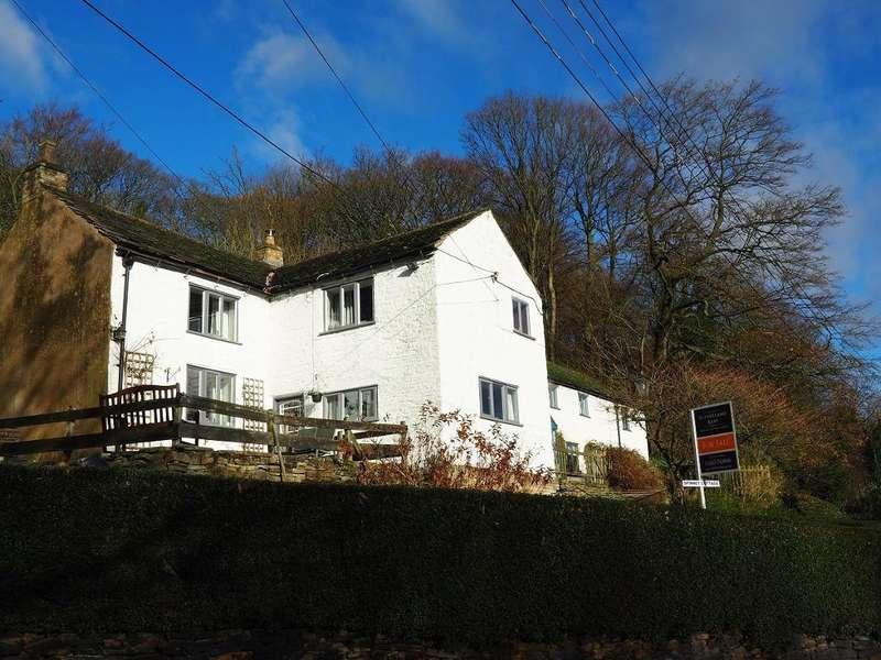 4 Bedrooms Semi Detached House for sale in Spinnerbottom, Birch Vale, High Peak, Derbyshire, SK22 1BL